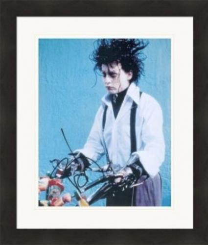 Johnny Depp 8x10 Photo signature (Edward Scissorhands) #SC2 Matted & Framed