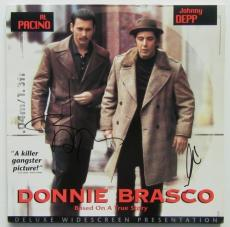 "Johnny Depp & Al Pacino Autographed ""Donnie Brasco"" Album Signed PSA DNA COA"