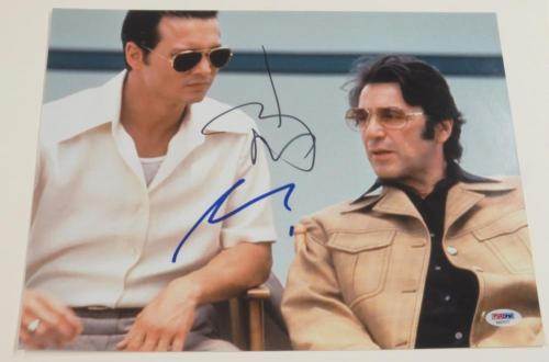 Johnny Depp Al Pacino Signed 11x14 Donnie Brasco Authentic Autograph Psa/dna Coa
