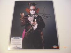 Johnny Depp Alice In Wonderland Actor Td/holo Signed 11x14 Photo