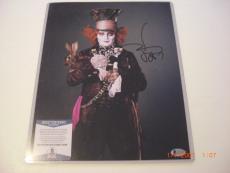 Johnny Depp Alice In Wonderland Actor Td/holo Signed 11x14 Photo