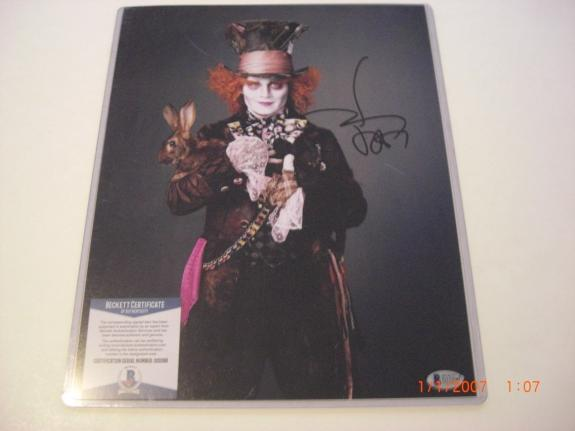 Johnny Depp Alice In Wonderland Actor Beckett/coa Signed 11x14 Photo