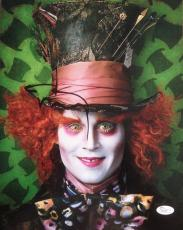 JOHNNY DEPP (Alice in Wonderland) signed/autographed 11x14 photo JSA P02097