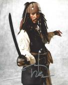 "JOHNNY DEPP as CAPTAIN JACK SPARROW in ""PIRATES of the CARIBBEAN"" Signed 8x10 Color Photo"