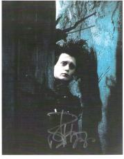 "JOHNNY DEPP as EDWARD in ""EDWARD SCISSORHANDS"" Signed 8.5x11 Color Paper Thin"
