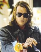 "Johnny Depp Autographed 11"" x 14"" Blow Dark Sunglasses Photograph- PSA/DNA COA"
