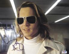 "Johnny Depp Autographed 11"" x 14"" Blow Sunglasses Photograph- PSA/DNA COA"