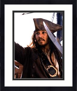 Johnny Depp Autographed 11x14 Pirates Of The Caribbean Photo AFTAL UACC RD COA