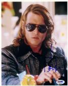 "Johnny Depp Autographed 8"" x 10"" Blow Glasses Photograph - PSA/DNA COA"