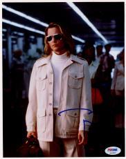 """Johnny Depp Autographed 8"""" x 10"""" Blow White Jacket Photograph - PSA/DNA COA"""