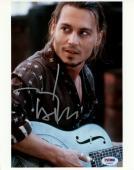 """Johnny Depp Autographed 8"""" x 10"""" Chocolat Playing Guitar Photograph  - PSA/DNA COA"""