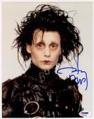 "Johnny Depp Autographed 8"" x 10"" Edward Scissorhands Photograph - PSA/DNA COA"