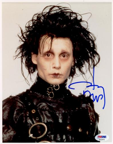 "Johnny Depp Autographed 8"" x 10"" Edward Scissorhands Photograph - PSA/DNA COA"