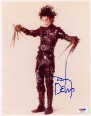 "Johnny Depp Autographed 8"" x 10"" Edward Scissorhands Posed Photograph - PSA/DNA COA"