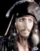 "Johnny Depp Autographed 8"" x 10"" Pirates of the Caribbean Captain Jack Sparrow Photograph 1 - PSA/DNA COA"