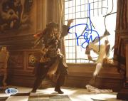 "Johnny Depp Autographed 8"" x 10"" Pirates of The Caribbean Jack Sparrow Fighting Photograph - Beckett COA"