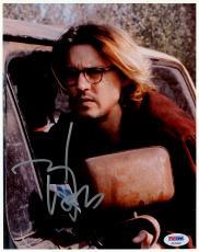 "Johnny Depp Autographed 8"" x 10"" Secret Window Car Photograph  - PSA/DNA COA"