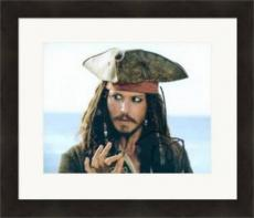 Johnny Depp autographed 8x10 Photo (Pirates of the Caribbean Jack Sparrow) #SC2 Matted & Framed