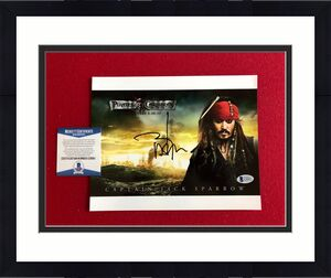 "Johnny Depp, ""Autographed"" (Beckett) ""Pirates of the Caribbean"" 8x10 Photo"
