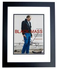 Johnny Depp Signed - Autographed BLACK MASS 8x10 Photo BLACK CUSTOM FRAME - Whitey Bulger Story