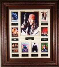 Johnny Depp Autographed Framed Movie Collection