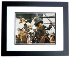 Johnny Depp Autographed Pirates of the Caribbean 11x14 Photo BLACK CUSTOM FRAME - Captain Jack Sparrow