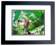 Johnny Depp Signed - Autographed Pirates of the Caribbean 11x14 inch Photo BLACK CUSTOM FRAME - Guaranteed to pass PSA or JSA
