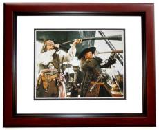 Johnny Depp Autographed Pirates of the Caribbean 11x14 Photo MAHOGANY CUSTOM FRAME - Captain Jack Sparrow