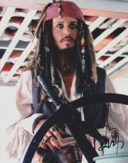 Johnny Depp Autographed Pirates of the Caribbean 8x10 Photo