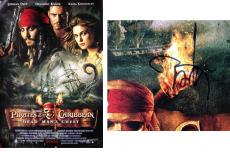 Johnny Depp Autographed Pirates of the Caribbean Movie Poster - Full Size 27x40 inch