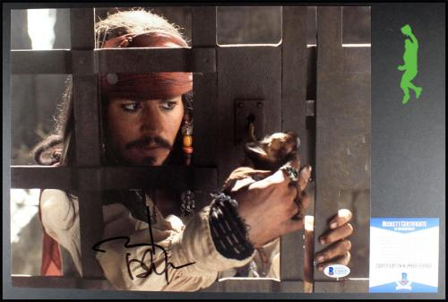 Johnny Depp Autographed Signed Pirates Of The Caribbean 11x14 Photo Beckett Coa
