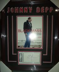 Johnny Depp Black Mass Movie Signed Autographed Double Matted Framed Psa/dna