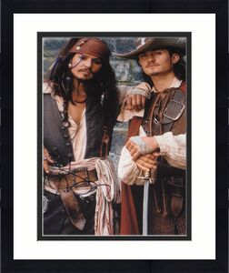 Johnny Depp Bloom Signed 11x14 Pirates Of The Caribbean