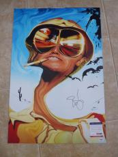 Johnny Depp Fear&  Loathing MUSEUM PIECE Autographed 20x30 Photo PSA Certified