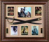 "Johnny Depp Framed Autographed 32"" x 36"" x 4"" Pirates of the Caribbean Collage - PSA/DNA"