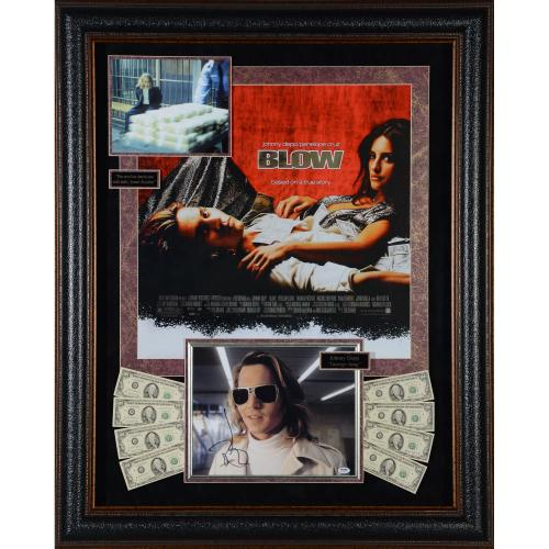 "Johnny Depp Framed Autographed 48"" x 38"" Blow Movie Collage - PSA/DNA"