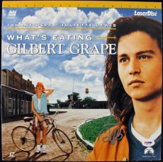 Johnny Depp Gilbert Grape Signed Laserdisc Cover PSA/DNA #J00710