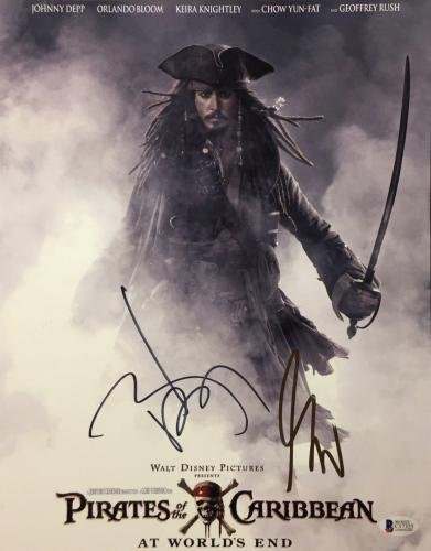Johnny Depp & Gore Verbinski Signed Pirates Of The Caribbean 11x14 Photo BAS