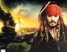 Johnny Depp Hand Signed Autographed 11x14 Photo Pirates Of Caribbean GA756087