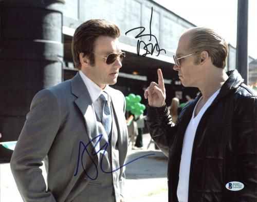 Johnny Depp & Joel Edgerton Black Mass Signed 11X14 Photo BAS #C37522