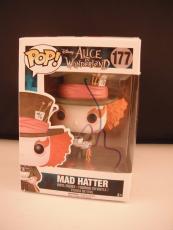 Johnny Depp Mad Hatter Wonderland Signed Autograph Funko POP Figure Disney