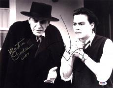 Johnny Depp & Martin Landau SIGNED 11x14 Photo Ed Wood PSA/DNA AUTOGRAPHED