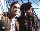 Johnny Depp & Orlando Bloom Signed Pirates 11X14 Photo PSA/DNA #W47557