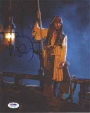 JOHNNY DEPP Pirates Autographed Signed 8x10 Photo Certified Authentic PSA/DNA !