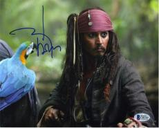 Johnny Depp Pirates Caribbean Autographed Signed 8x10 Photo Authentic BAS COA