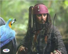 JOHNNY DEPP Pirates Caribbean Autographed Signed 8x10 Photo PSA/DNA