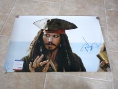 Johnny Depp Pirates MUSEUM PIECE Signed Autographed 20x30 Photo PSA Certified