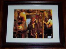 Johnny Depp Pirates of the Caribbean 4 Signed Photo JSA COA Framed!