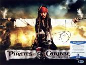 Johnny Depp Pirates Of The Caribbean Autographed Signed 11x14 Photo BAS B81900