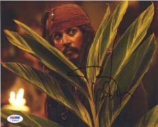 Johnny Depp Pirates of the Caribbean Autographed Signed 8x10 Photo PSA/DNA